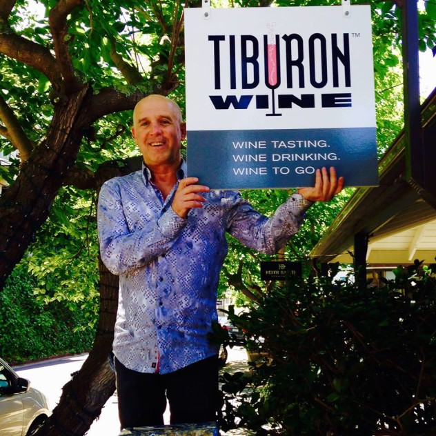 Jerry Horn at his new wine shop in Tiburon CA, Tiburon Wine
